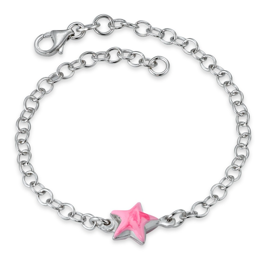 Armband Silber  Stern pink