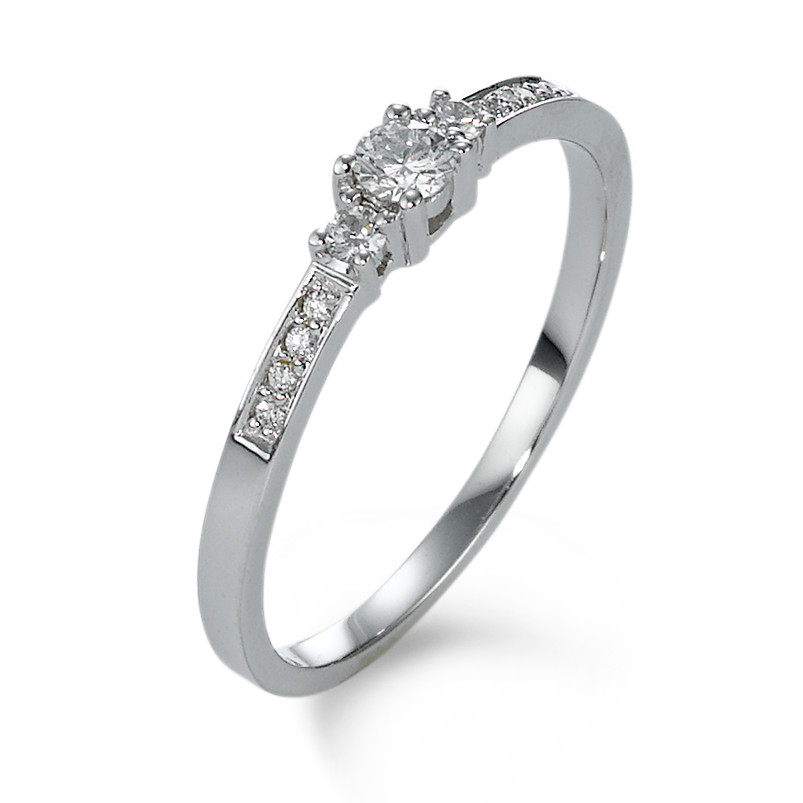 Fingerring 750/18 K Weissgold Diamant