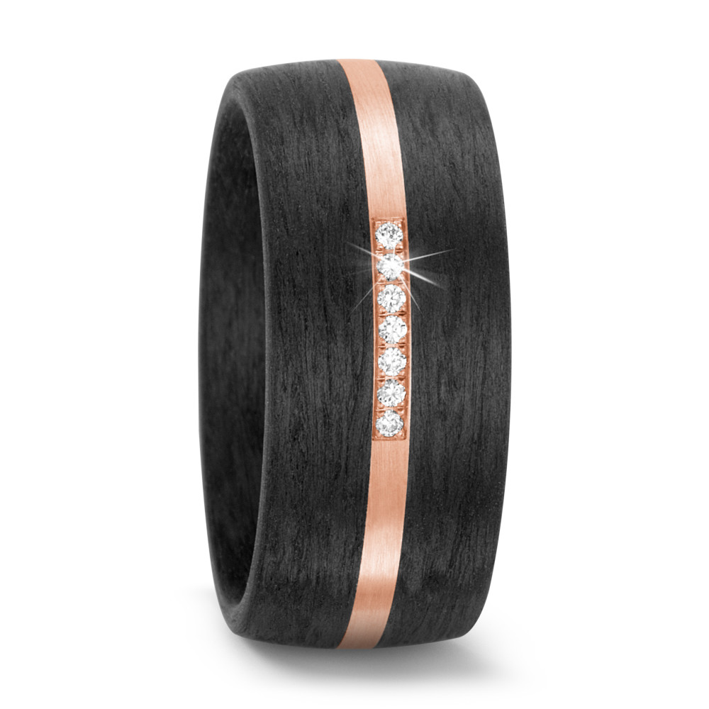 Partnerring 585/14 K Rosegold Diamant