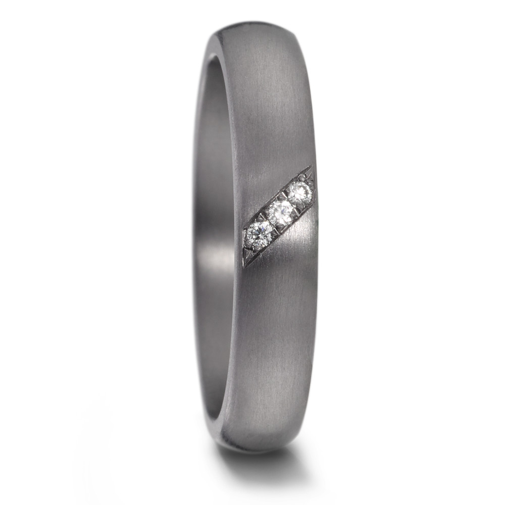Partnerring Tantal Diamant